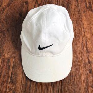 White infant boy Nike baseball cap